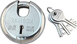 RAMSON Round Lock 7 Levers Steel Lock with 3 Keys (80mm)