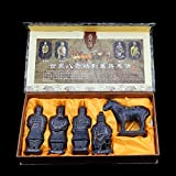 Chinese Shi Huangdi Terracotta Warrior - Qin Shi Huang Terracotta Army Warrior of Qin Dynasty, First Emperor of Ancient China History, Funerary Art Terra Cotta Soldier Sculpture (6 Inch Set of 5)