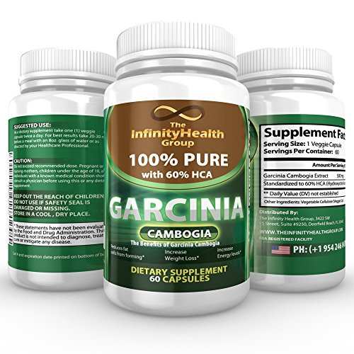 PREMIUM Veggie Garcinia Cambogia Extract with 60% HCA - PURE 500mg Capsule can aid Weight Reduction & Appetite Suppression.