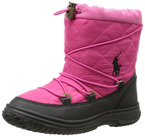 Polo Ralph Lauren Kids Orao Quilted Winter Boot (Toddler/Little Kid),Preppy Pink,11 M Us Little Kid