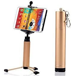 First2savvv ZP-100A13 Portable Self-portrait handheld Pole Arm monopod stand Camcorder/Camera/mobile phone tripod mount adapter bundle for HTC first One mini Desire 500 One max Desire 300 Desire 601 Desire 516 Desire 310 One M8 Desire 610 Desire 816 with