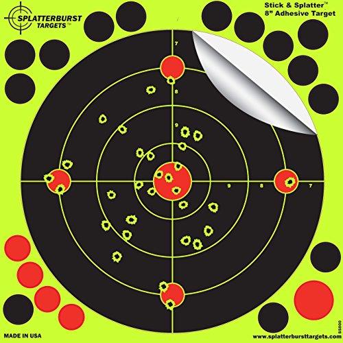 25-pack-8-stick-splatter-adhesive-splatterburst-shooting-targets-instantly-see-your-shots-burst-brig