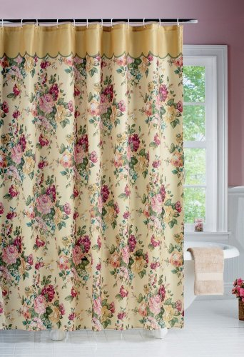 Beautiful Vintage Style Victorian Floral Rose Bouquet Bathroom Shower  Curtain