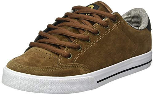 C1RCA Men's AL50 Skateboarding Shoe, Earth/Black/Gold, 10 M US