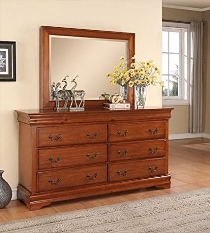 Louie Philippe 6 Drawer Dresser