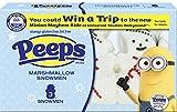 Marshmallow PEEPS Marshmallow Snowmen, 1.125 Ounce (Pack of 24)