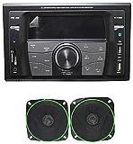 Worldtech Onmca_331 Double Din Wt - 7555Bt With 4 Inch Speakers Set
