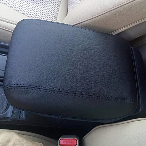Kust fsx3853w Car Central Console Armrest Box Cover Saver, Fibers Leather, Black Color with Handworked Black Stitches, Pack of 1 Piece, Fit for 2015/16 Crv Honda Armrest Box Size (Honda Crv Accessory compare prices)