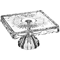 10-Inch Godinger Crystal Footed Cake Plate