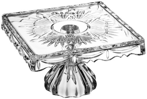 Godinger Crystal Freedom 10-Inch Footed Cake Plate