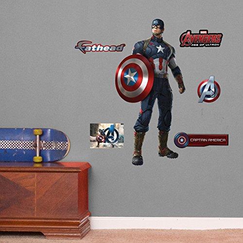 Fathead 15-16922 Avengers Captain America-Age of Ultron Vinyl Decals (Fathead Captain America compare prices)