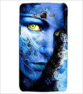 PrintDhaba GIRL FACE ART D-6898 Back Case Cover for SAMSUNG GALAXY J7 (Multi-Coloured)