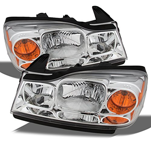 saturn-vue-amber-chrome-oe-replacement-headlights-driver-passenger-head-lamps-pair-new