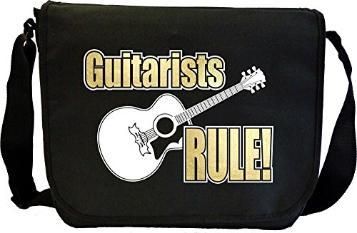 Acoustic Guitar Rule - Sheet Music Document Bag Borsa Spartiti MusicaliTee