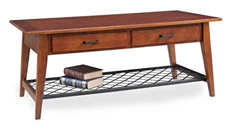 2-Drawers Contemporary Coffee Table