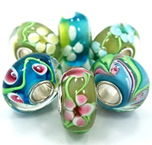 .925 Sterling Silver 6 Beads