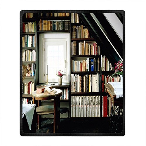 "Smiling You Personalized Bookshelf High Quality Fleece Throw Blanket 50"" x 60"""