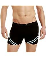 LisaModa Retro Boxershorts 6er Pack schwarz Stretch Baumwolle