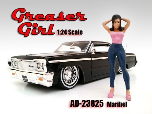 Greaser Girl Maribel Figurine / Figure For 1:24 Models by American Diorama 23825 - 1