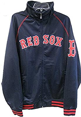 Boston Red Sox Majestic Home Field Track Jacket Navy Blue Men's Big & Tall Sizes