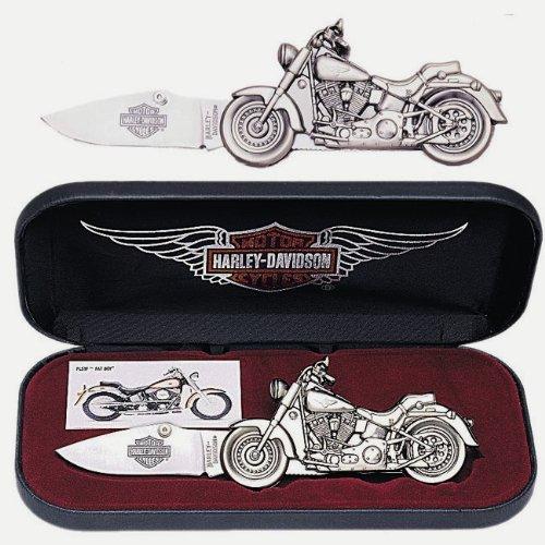United Cutlery   Harley Davidson Fat Boy Die Cast Motorcycle Knife