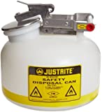 Justrite Polyethylene Liquid Disposal Safety Can with Stainless Steel Hardware