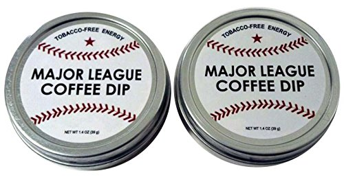 Major League Coffee Dip (Pack Of 2) Quit Chewing Tin Can Non Tobacco Nicotine Free Smokeless Alternative To Chew Snuff Snus Leaf Los Angeles Angels Of Aneheim Oakland Athletics Seattle Mariners Texas Rangers Cleveland Indians Detroit Tigers Minnesota Twin