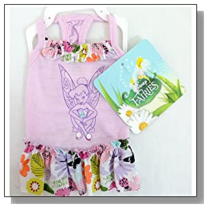Disney Fairies Apparel for Dogs Tinkerbell Dress Extra Small XS
