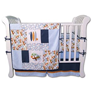 Trend Lab Surfs Up Crib Bedding Set, 4 Piece