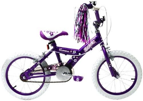 Bicicleta para niña rosa, sin apoyos