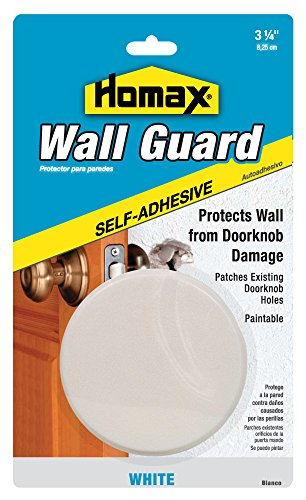 Homax Group 5105 Wall Guard Door Knob Bumper Plate, 5-Inch (Door Guard Plate compare prices)