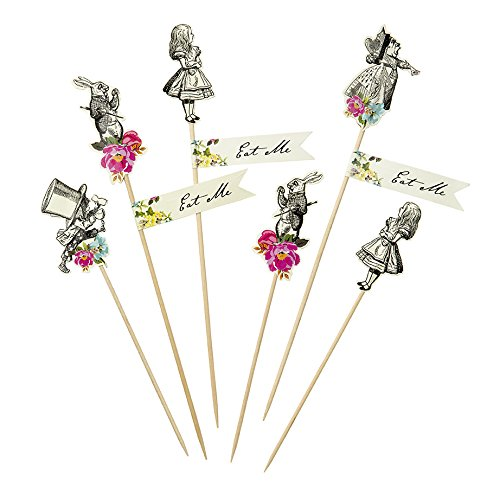 Truly Alice Mad Party Picks x 12 Alice in Wonderland Mad Hatters