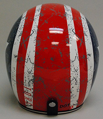 TORC (T50 Route 66) 3/4 Helmet with 'Rebel Star' Graphic (White, Large) 4