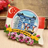 Tourist Souvenir Favorite Travel Resin 3D Fridge Magnet Colorful-Singapore