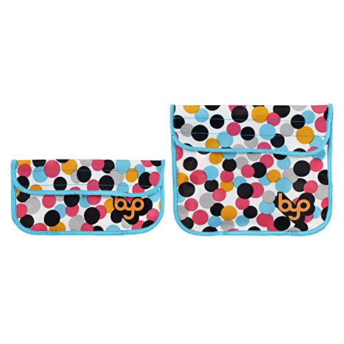 byo-designer-neoprene-insulated-reusable-sandwich-snack-bag-2-piece-set-dot-candy-pink-b-slv1-dca-by