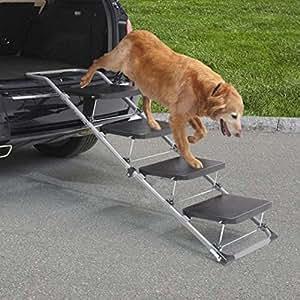 Pet Ramp For Car >> Amazon.com : Guardian Gear 4-Step Auto Ramp : Pet Supplies