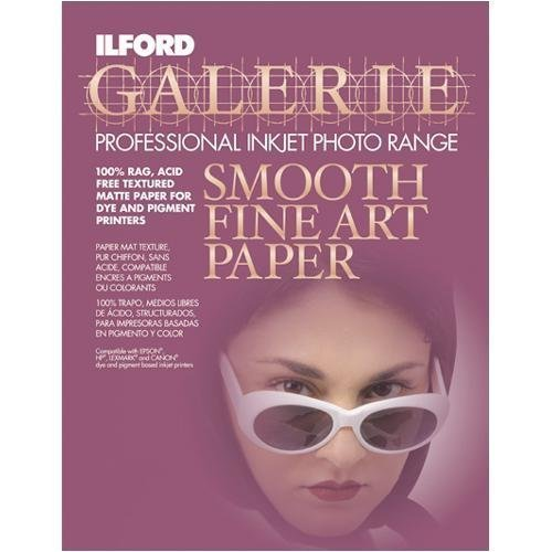 Ilford Galerie Smooth 8 1 2 X 11 Inch Fine Art Paper 10 Sheets