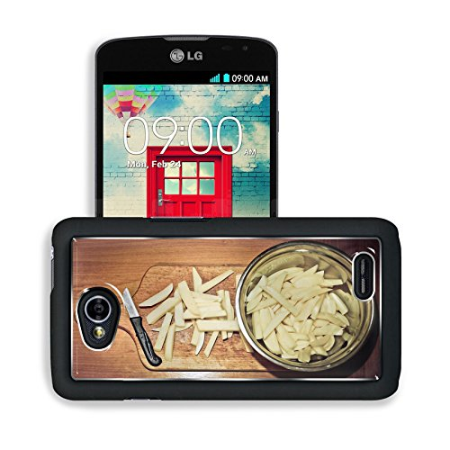 Luxlady Premium LG Optimus L70 Dual Aluminum Backplate Bumper Snap Case Potato French Fries Vegetables Image 436870 (Lg Optimus L70 Case French Fries compare prices)
