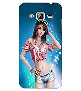 ColourCraft Beautiful Girl Design Back Case Cover for SAMSUNG GALAXY J3 (2016)