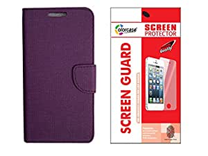 Colorcase Flip Cover Case for Samsung Galaxy J3 with Screenguard