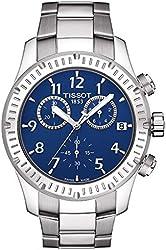 Tissot V8 Blue Dial Stainless Steel Mens Watch T0394171104703