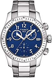 Tissot V8 Blue Dial Stainless Steel Mens Watch T0394171104703