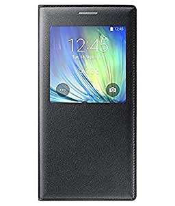 Flip Cover For Samsung Galaxy A7-Black With Free Key Ring
