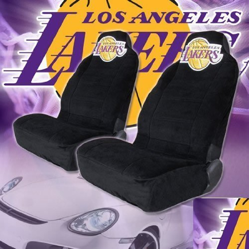 Los Angeles Lakers High Back Car Seat Covers with Large Size Embroidery Logo 404f85dd5