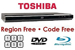Toshiba Bdx1300rf Region Free DVD and Blu-ray Player and Dynastar Hdmi Cable 6ft Bundle