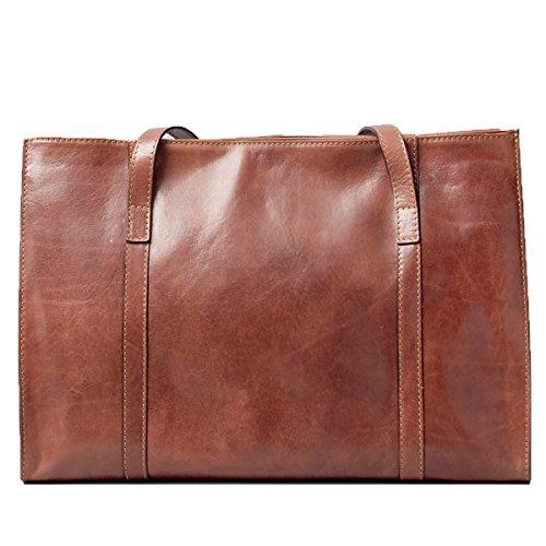 Maxwell Scott - Luxus Braune große Damentasche aus Leder (Rivara)