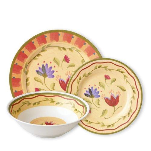 Pfaltzgraff Napoli 12 Piece Melamine Dinnerware Set, Service For 4 - Red|Yellow|Orange