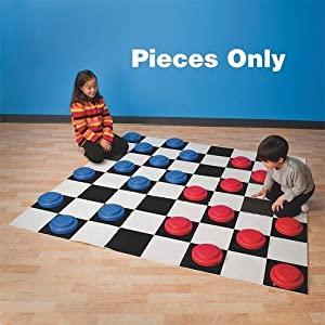 Jumbo Checker Pieces (Pack of 24) by S&S