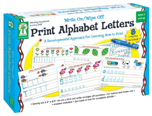 Print Alphabet Letters: Write On/Wipe Off front-76351