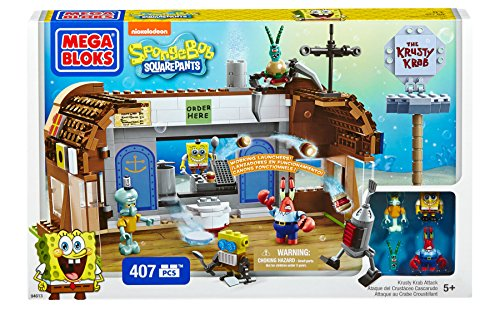 Mega Bloks -  Sponge Bob Play Set Krusty Krab